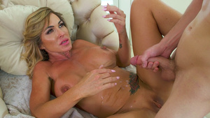 Cum all over tits tube